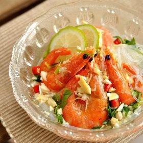 在家就能做的泰国美食:泰式粉丝大虾沙律