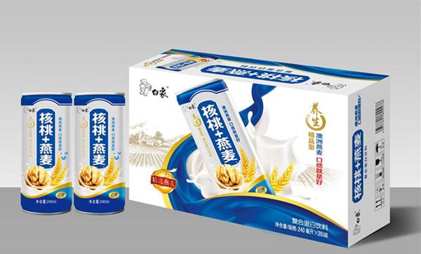 白象饮品推核桃燕麦露 抢占蛋白饮料市场